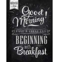 Poster good morning chalk vector