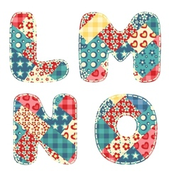quilt alphabet vector image vector image