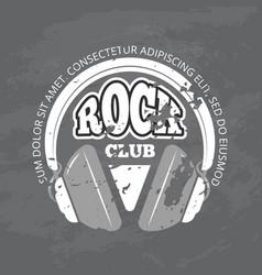 retro rock music club shop logo vector image