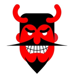 Satan laughter Devil with terrible smile Horrible vector image vector image