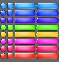 Colored web buttons vector image