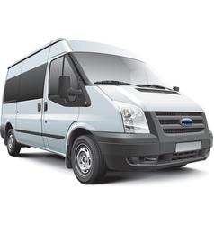 European passenger van vector image vector image