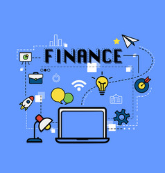 finance graphic for business concept vector image