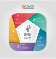 Infographic business concept with 5 options vector