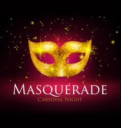 Masquerade mask background vector