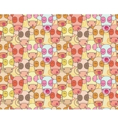Pattern from cows muzzles vector image vector image