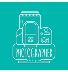 Photographer for you vector