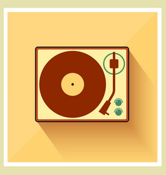 Retro turntable vinyl record player vector image