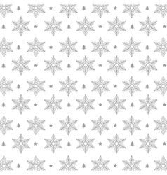 Snowflakes pattern background icon vector