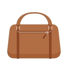 Terracotta women leather handbag fashion flat vector