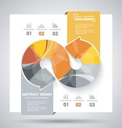 brochure template design with arrows elements vector image vector image