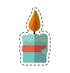 cartoon easter candle ribbon decoration vector image