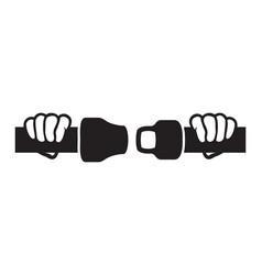 ffasten seat belts sign vector image
