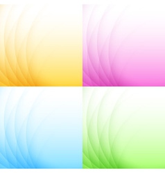 Set of Abstract Colorful Light Backgrounds vector image vector image