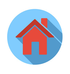 website or app home or house flat icon vector image