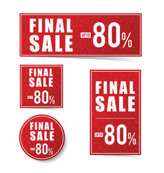 final sale advertising set vector image vector image
