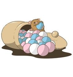 hamster bonbons vector image
