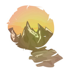 mountain landscape at vector image