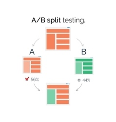 AB comparison Split testing vector image