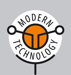 Abstract logo antenna technology vector