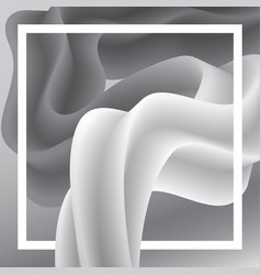 abstract worm white and gray background vector image