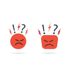 Angry and hate icon difficult bad customer vector