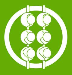 Asian shashlik icon green vector