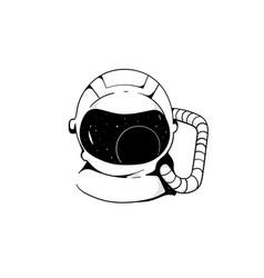 Astronaut cosmic art science fiction vector