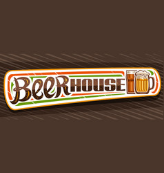 Banner for beer house vector