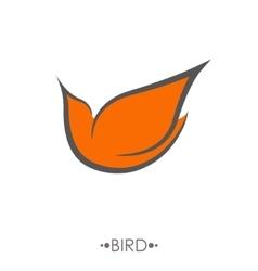 Bird Logo design template linear style vector