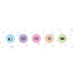 Blast icons vector
