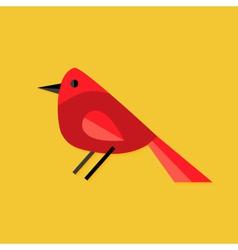 Bullfinch Bird Christmas Flat Icon vector