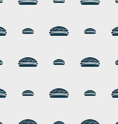 Burger hamburger icon sign Seamless pattern with vector
