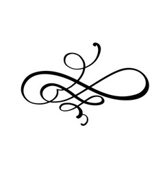 calligraphy element flourish hand drawn vector image
