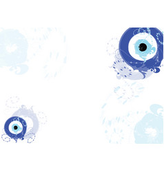 card with blue evil eye vector image