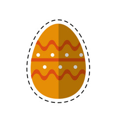 cartoon easter egg season celebrate vector image