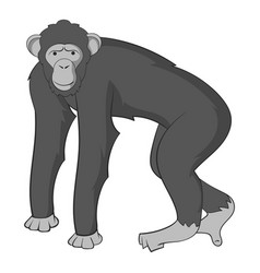 Chimpanzee icon monochrome vector