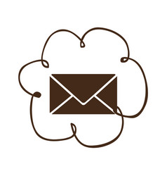 Cloud services e-mail network icon vector