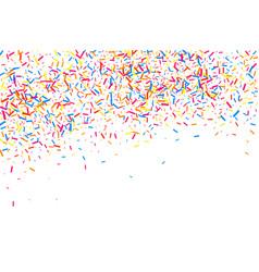 colorful explosion of confetti colored grainy vector image