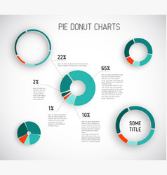 Colorful pie chart templates vector