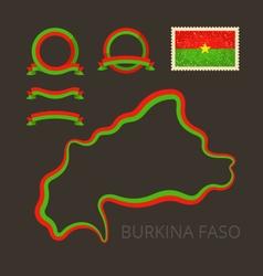 Colors of Burkina Faso vector image