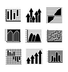 Creative infographics glyph icons vector