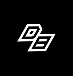 db logo monogram with up to down style negative vector image