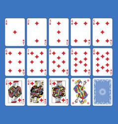 diamonds suite french stylexa vector image