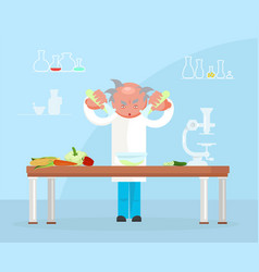 Diet researching concept vector