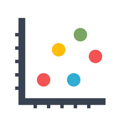 dot chart icon vector image