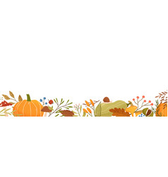 fall flat background autumn decorative vector image
