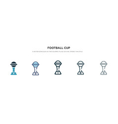 Football cup icon in different style two colored vector