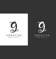 g letter logo design template vector image