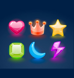 Game match icon sign set in different colors vector